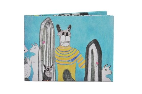 Carteiras de Papel Tyvek® - Monkey Wallets® - Llama