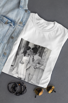 White T-shirt Kiss @bysandromolinari on internet