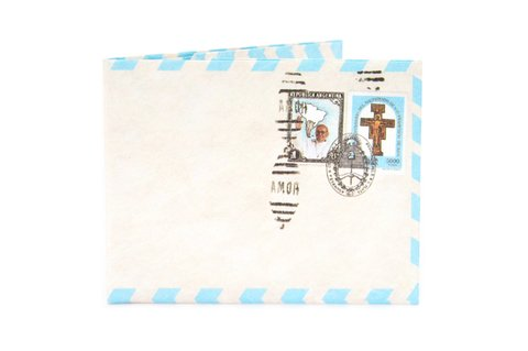 Carteira de papel Tyvek® - by Monkey Wallets® - Airmail Papa