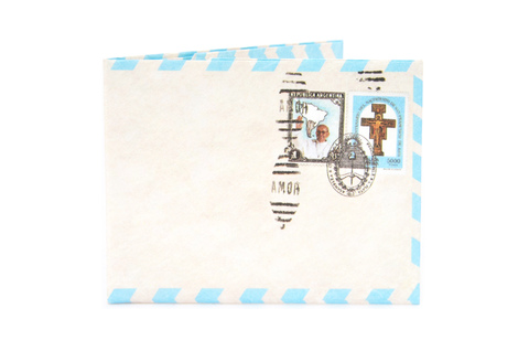 Billetera de papel Tyvek® - by Monkey Wallets® - Airmail Papa