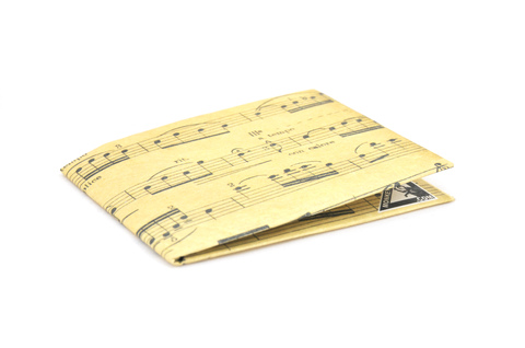 Carteira de papel Tyvek® - by Monkey Wallets® - Partitura - comprar online