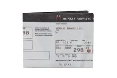 Billeteras de Papel Tyvek® - Monkey Wallets® - Boarding Pass