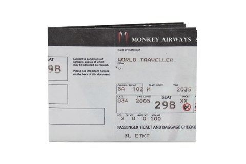 Carteiras de Papel Tyvek® - Monkey Wallets® - Boarding Pass