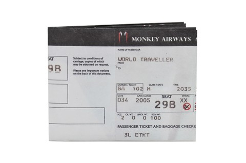 Tyvek® Wallets - Monkey Wallets® - Boarding Pass