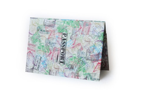 Passport Cover - Stamps