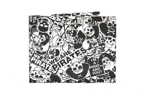 Billeteras de Papel Tyvek® - Monkey Wallets® - Pirata