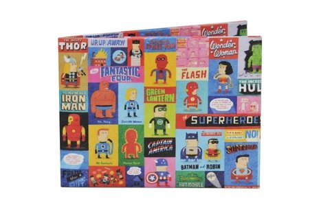 Carteiras de Papel Tyvek® - Monkey Wallets® - Superheroes