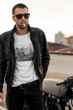 White T-shirt Motorcycles @bysandromolinari on internet