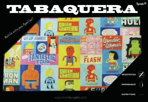 Tabaco Pouch - Superheroes