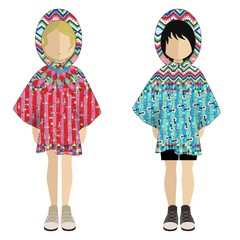 Mini Poncho Pocket Circopate Nena - Cuarto Colorado
