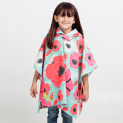Mini Poncho Pocket Amapolas