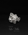 Anillo flor triple ajustable. Filigrana Momposina Plata Ley 950