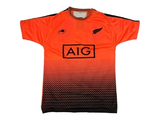 Remera running LIONS XV All Blacks orange