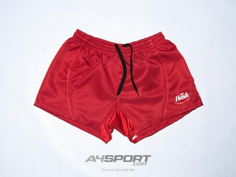 Short de rugby Flash IRB 011 rojo