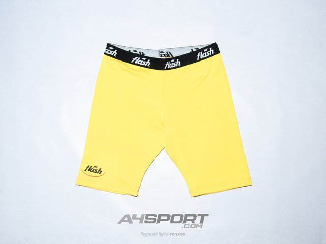 Calza Spandex FLASH amarillo
