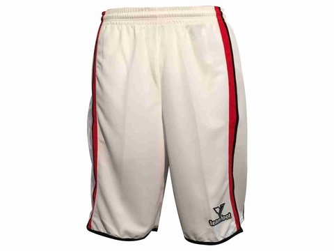 Short TEAM FOOT Memphis blanco/rojo en internet