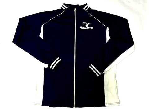 Campera deportiva TEAM FOOT marino/negro