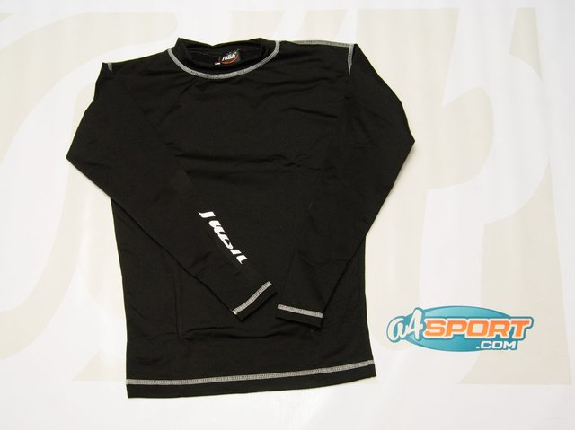 Remera térmica manga larga FLASH negra