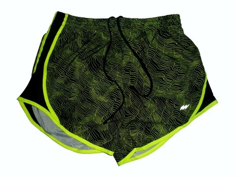 Short training FLASH estampado negro/verde