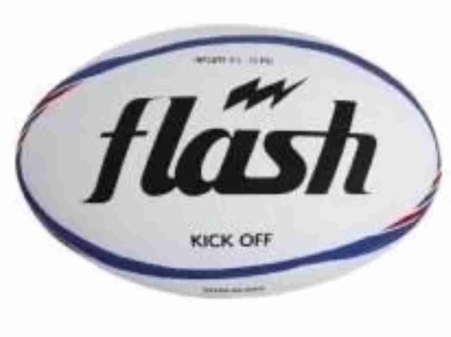 Pelota de rugby FLASH Kick Off Nº5 azul/rojo