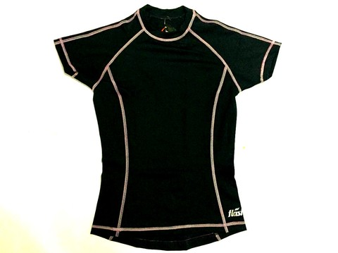 Remera térmica femenina FLASH manga corta negro