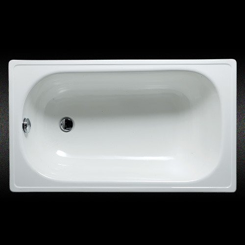 Bañera de acero esmaltada blanca c/antideslizante (2da calidad) Esmalte saltado en interior visible