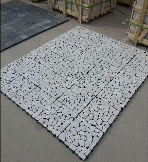 Decks WPC piedra BLANCA baldosa 30x30 (por pieza)