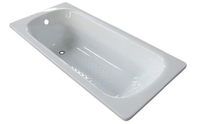 Ba era de acero esmaltada color blanco con antideslizante for Antideslizante banera