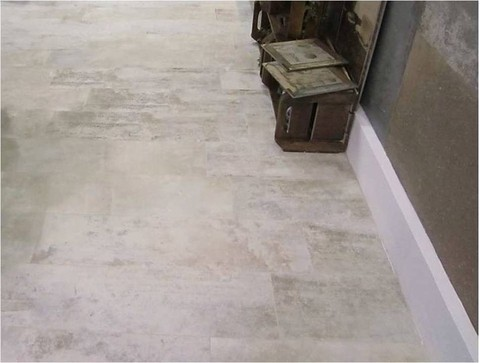 Porcelanato Rustico+Rectificado 24,5x100 VILLAGRES Machiato Latte