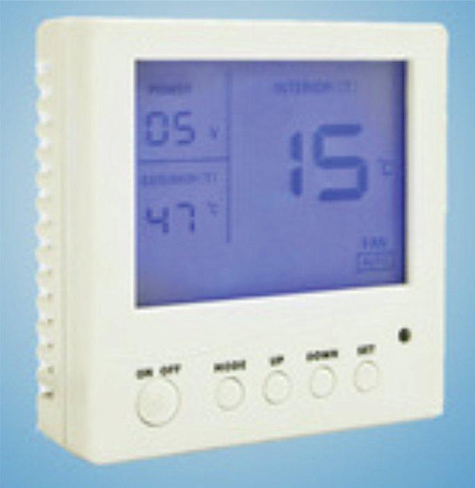 Controlador LCD para calefactor solar