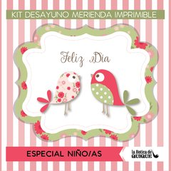 KIT IMPRIMIBLE FIESTA SHABBY CHIC