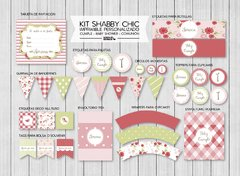 KIT IMPRIMIBLE FIESTA SHABBY CHIC - comprar online