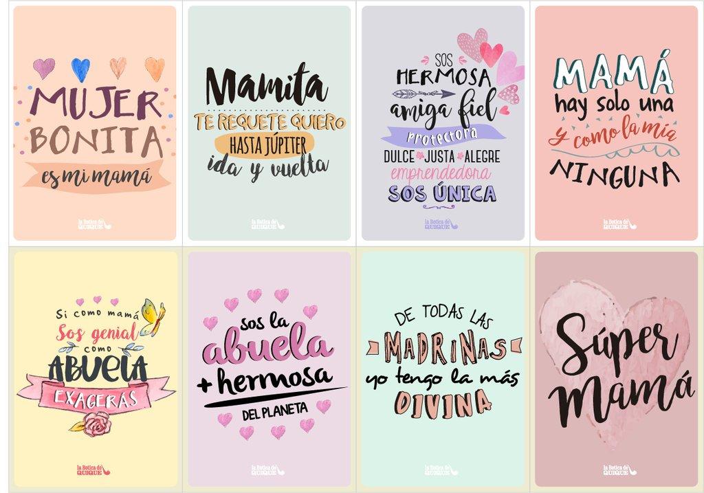 Dia De La Madre Tarjetas Para Imprimir
