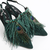Eva green Feather Shoe - online store