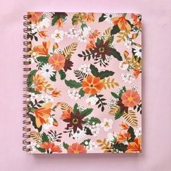 Cuaderno Liverpool anillado - Flower Power Rosa New