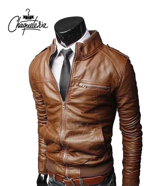Chaqueta En Cuero Toshi Light Honey - comprar online