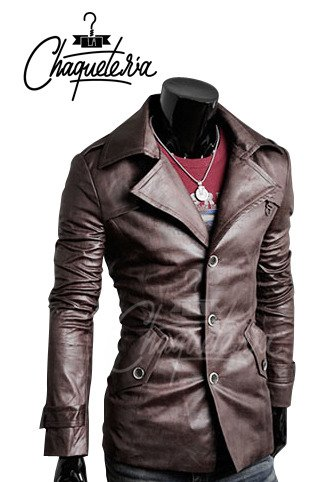 Blazer En Cuero Doa Dark Brown