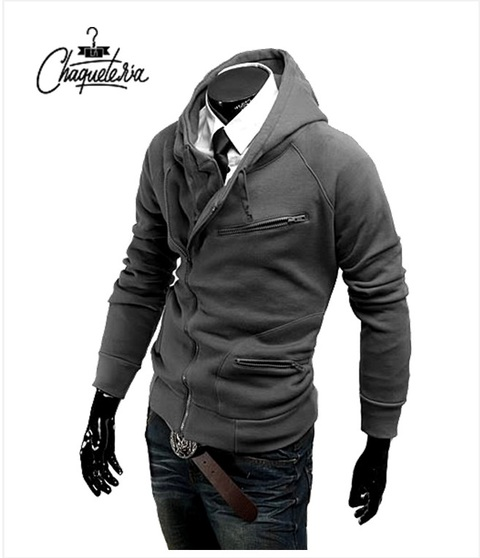 Hoodie SLIM FIT; Ref: Yaje Gray - Marca LaChaqueteria