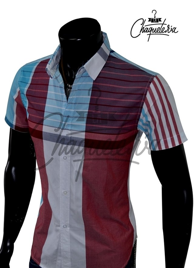 Camisa SLIM FIT; Ref: Coden Red - Marca LaChaqueteria - buy online