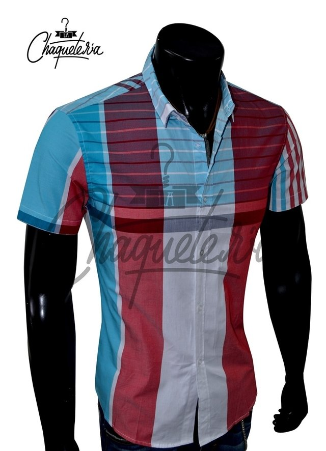 Camisa SLIM FIT; Ref: Coden Red - Marca LaChaqueteria