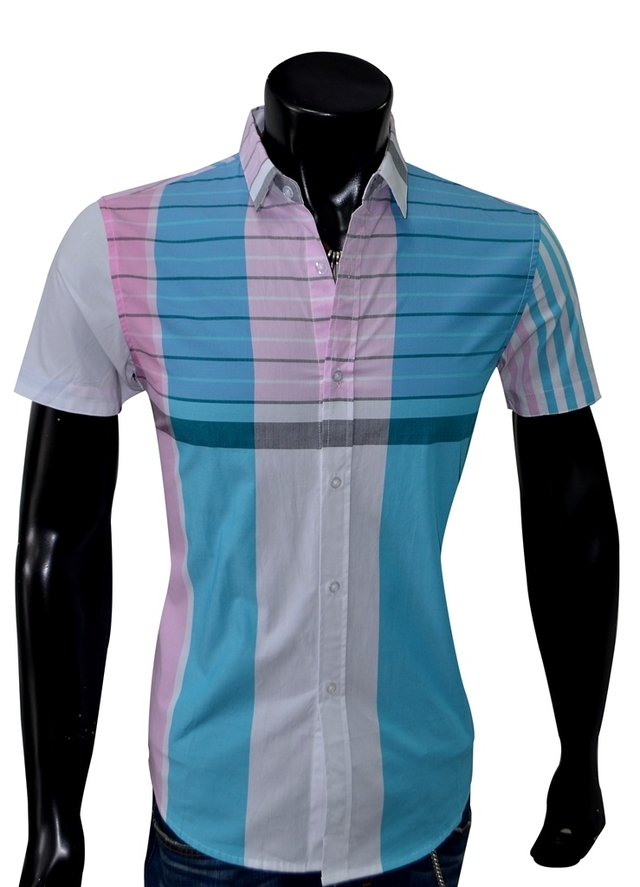 Camisa SLIM FIT; Ref: Coden Blue - Marca LaChaqueteria on internet