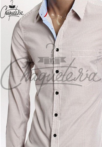 Camisa SLIM FIT; Ref: Ario Striped Brown - Marca LaChaqueteria - buy online