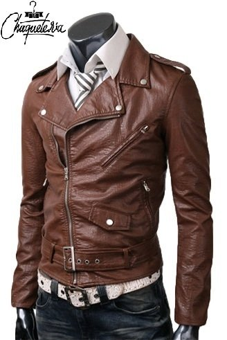 Chaqueta En Cuero Bison Brown en internet