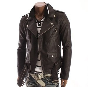 Chaqueta En Cuero Bison Dark Brown