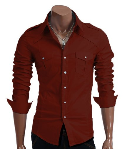 Camisa Algodón Slim Fit classic Red