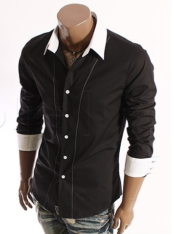 Camisa Algodón Slim Fit crop Black na internet