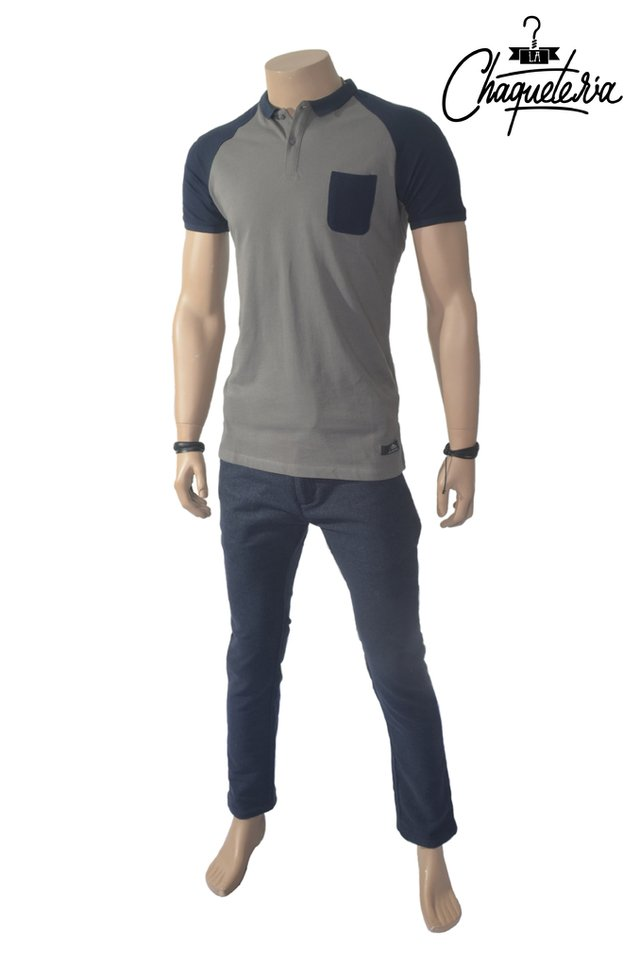Polo Algodón Slim Fit Duos Grey