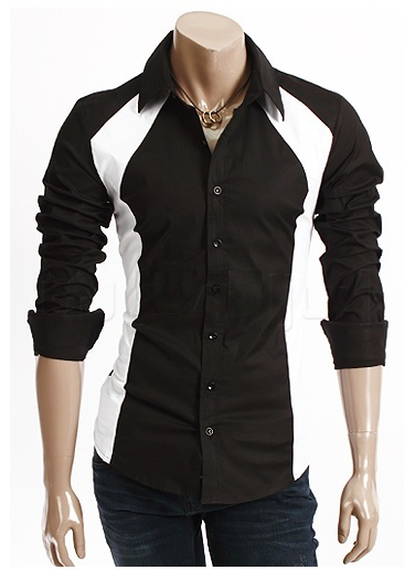 Camisa Algodón Slim Fit getsu Black