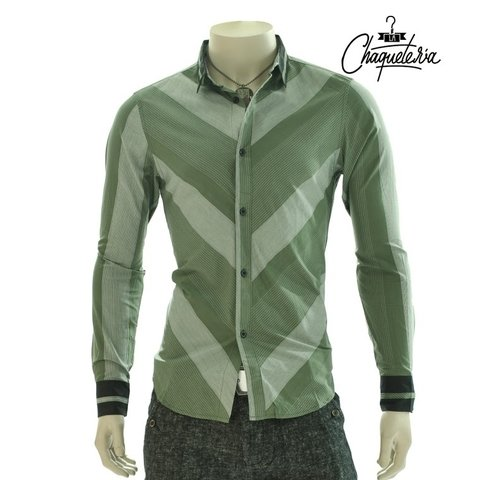 Camisa Algodón Slim Fit Komento Green en internet