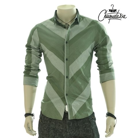 Camisa Algodón Slim Fit Komento Green